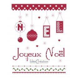 Fiche broderie Joyeux Noël,...